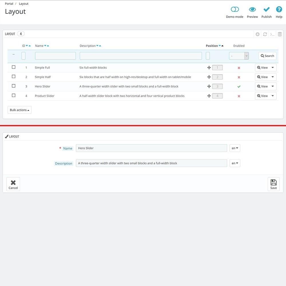module - Personalización de la página - EVOLVE Portal - 5