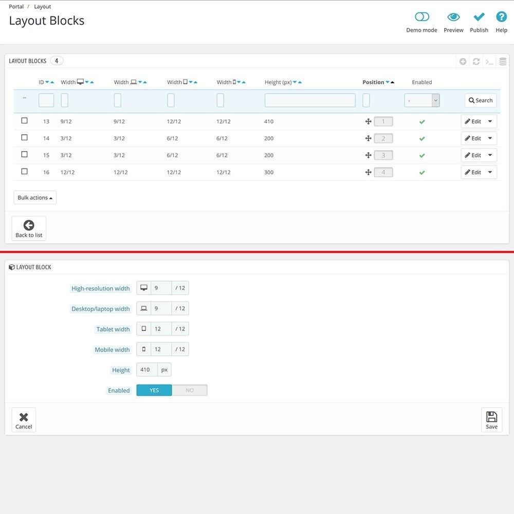 module - Personalización de la página - EVOLVE Portal - 6