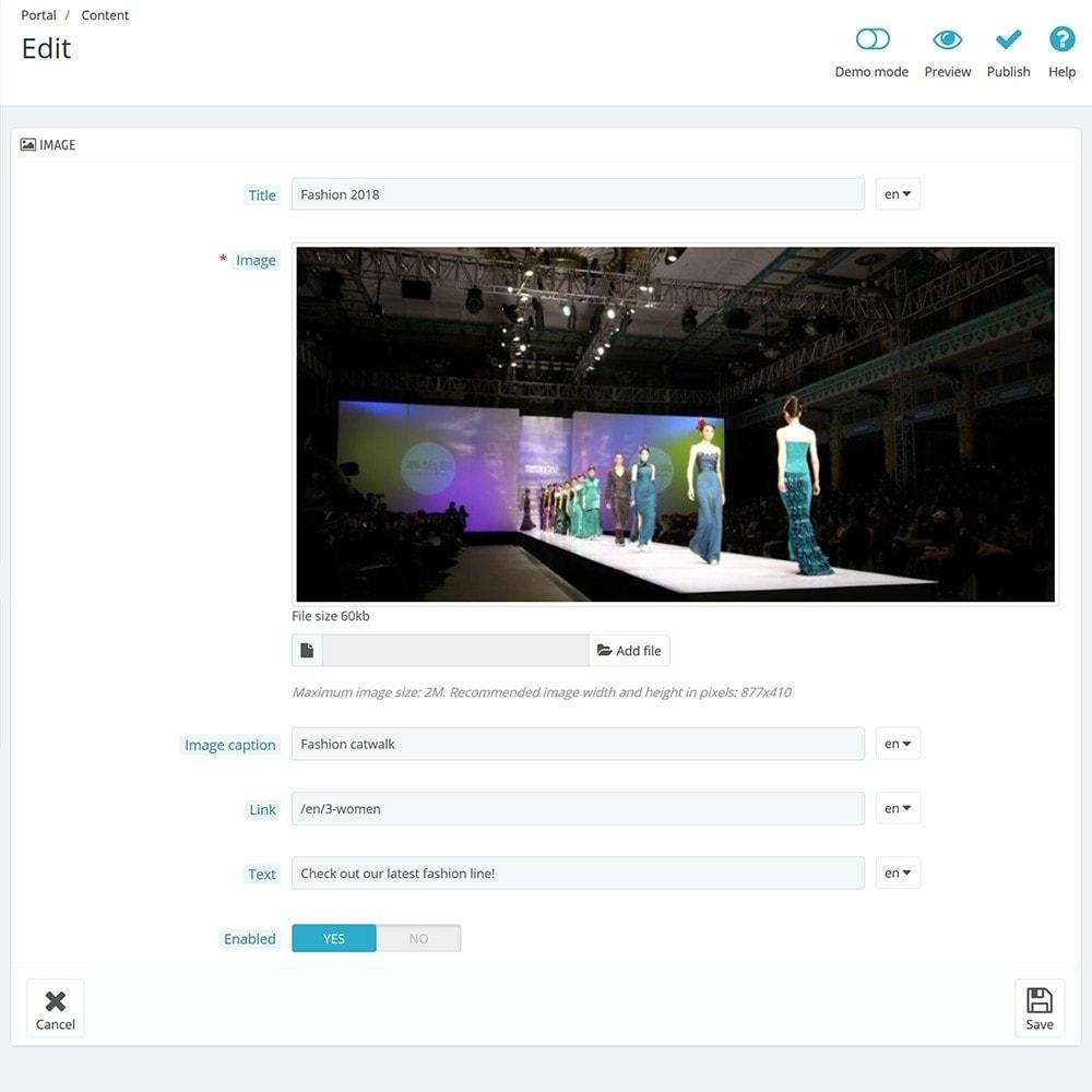 module - Personalización de la página - EVOLVE Portal - 10