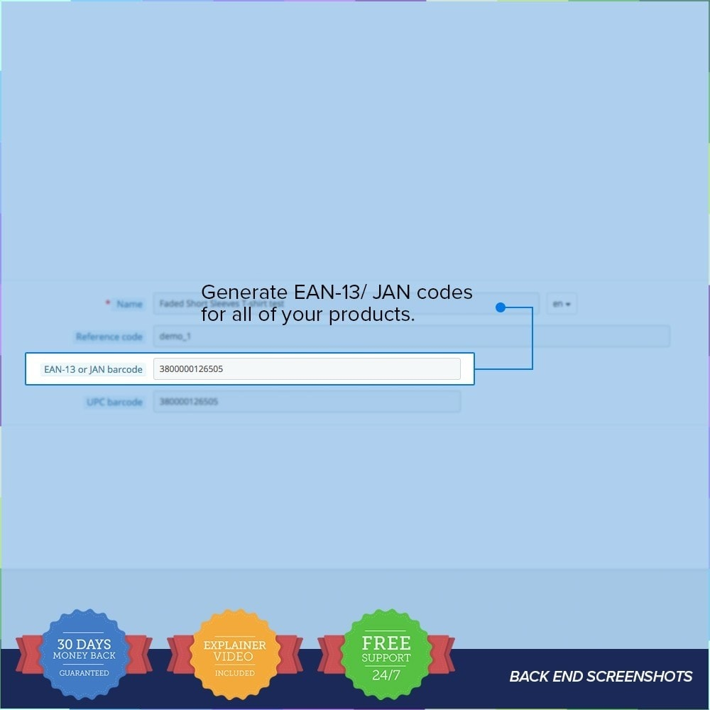module - Stock & Supplier Management - EAN - UPC codes Generator PRO - 2