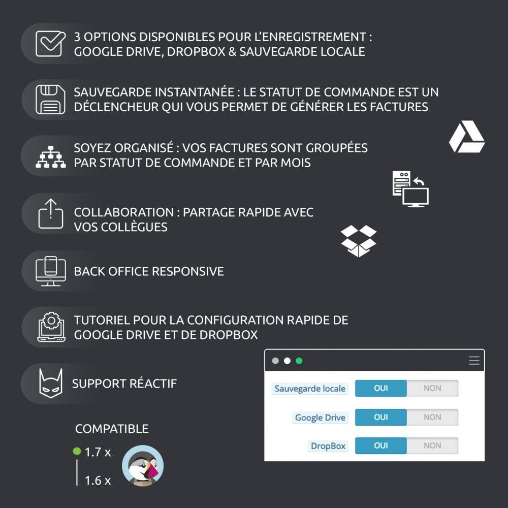 module - Migration de Données & Sauvegarde - Enregistrer vos factures: Dropbox, Google Drive, local - 2