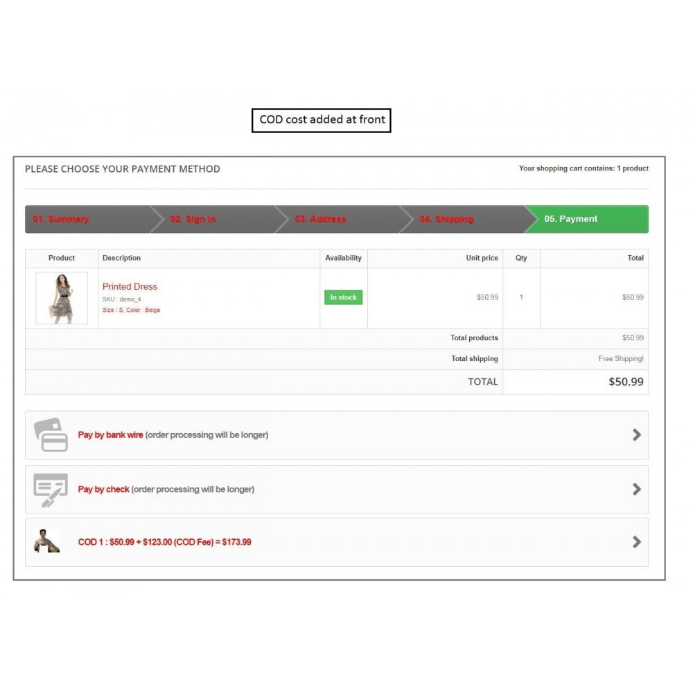 module - Оплата при доставке - Knowband - Cash on Delivery with Fee - 1