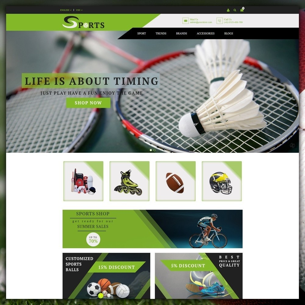 theme - Sports, Activities & Travel - Sport Shop - 2