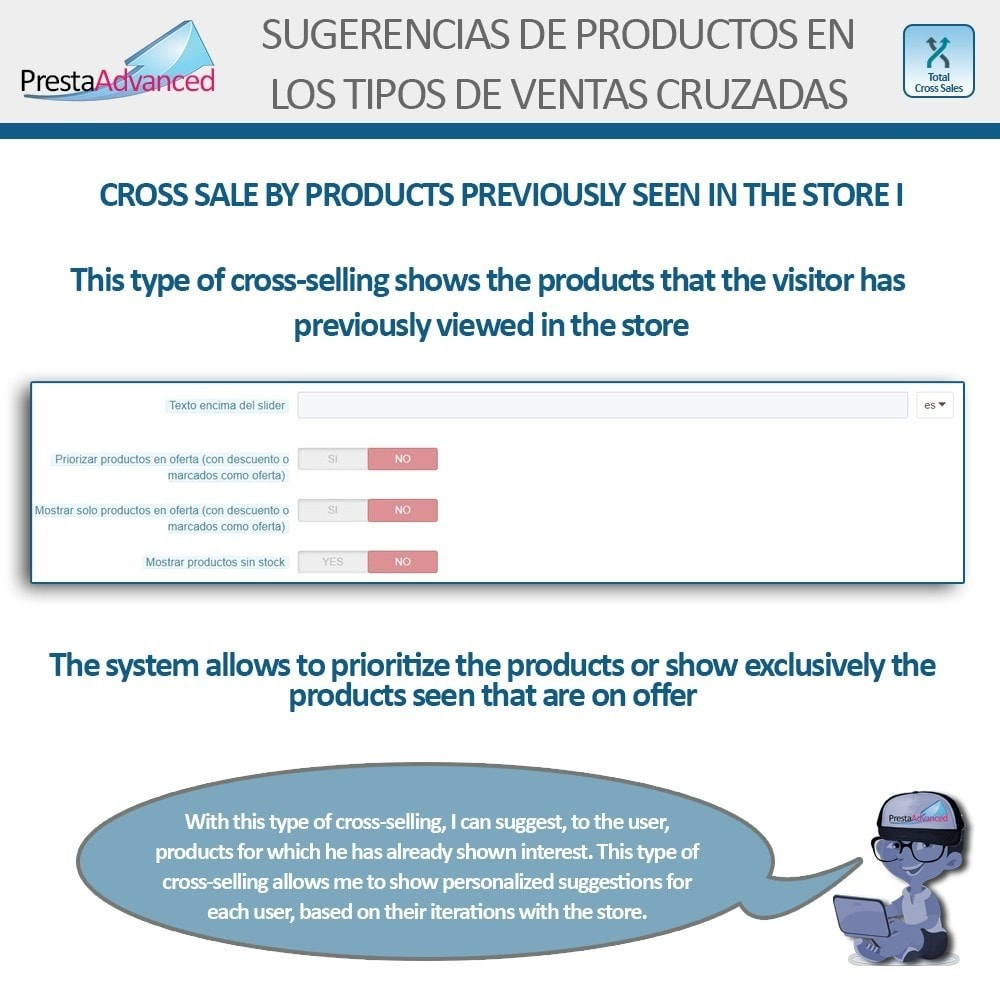 module - Cross-selling & Product Bundles - Total Cross Sales - Cross-selling Set up and control - 23