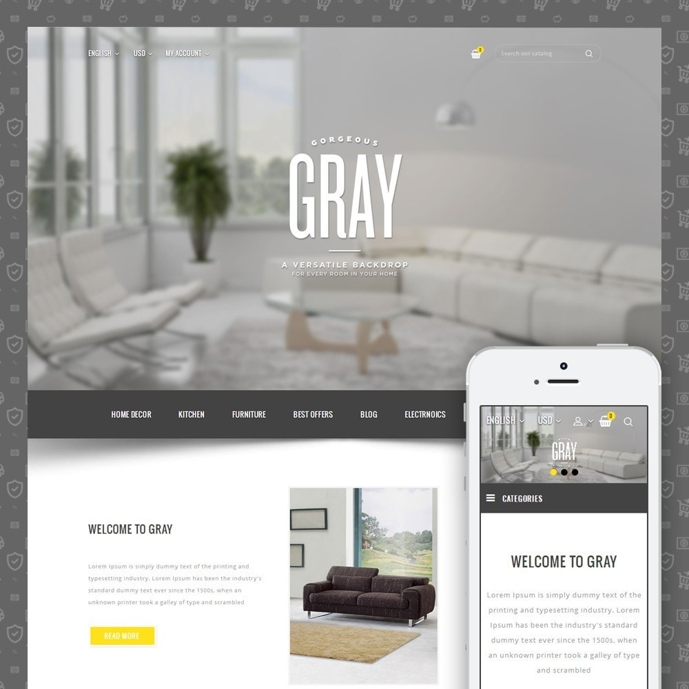 theme - Home & Garden - Gray Furniture Store - 1