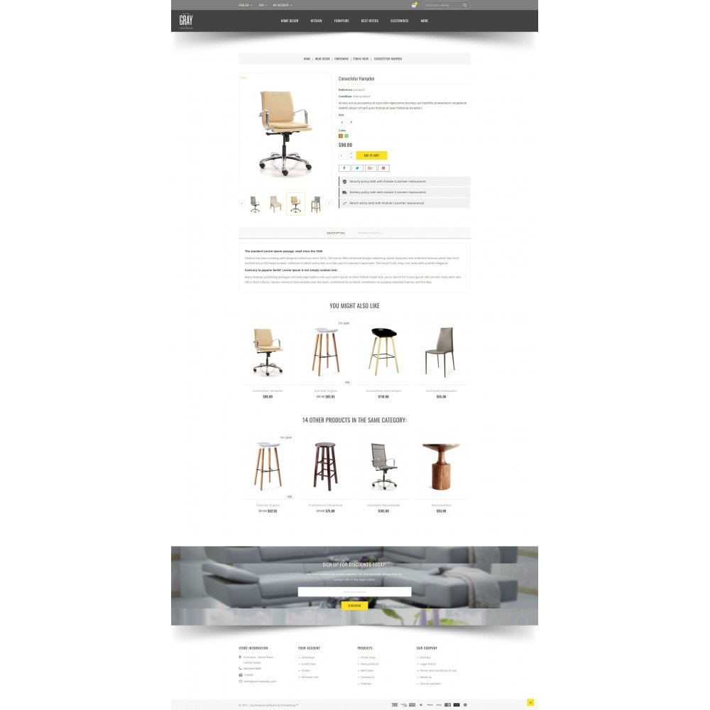 theme - Home & Garden - Gray Furniture Store - 5