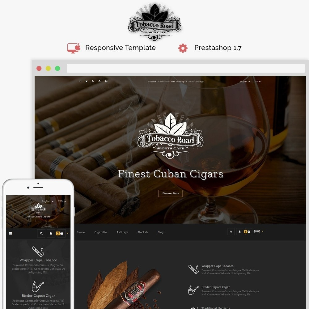 theme - Bebidas & Tabaco - TobaccoRoad Tobacco Shop - 1