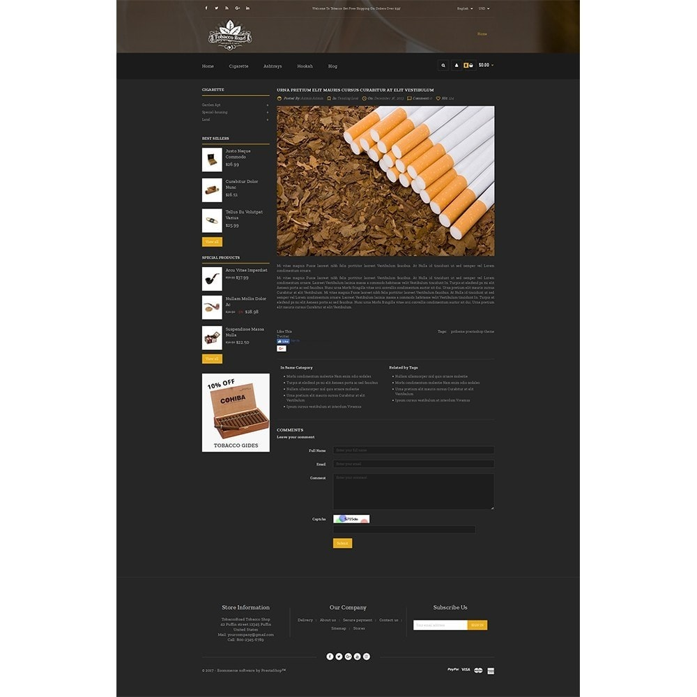 theme - Bebidas & Tabaco - TobaccoRoad Tobacco Shop - 8