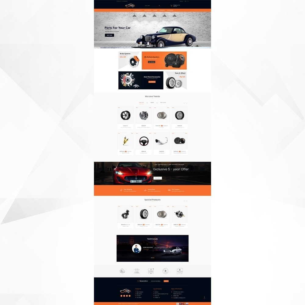 theme - Automotive & Cars - Auto Part - Automotive Shop - 2