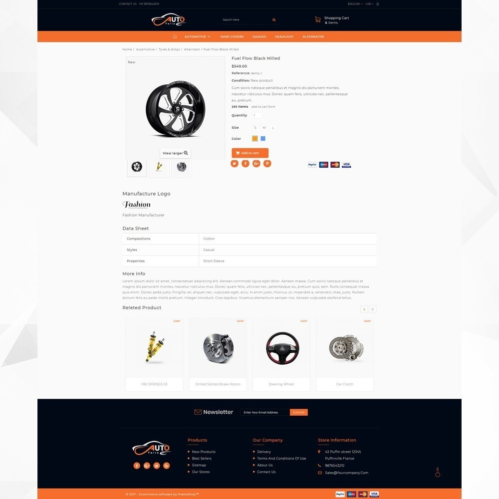 theme - Auto & Moto - Auto Part - Automotive Shop - 4