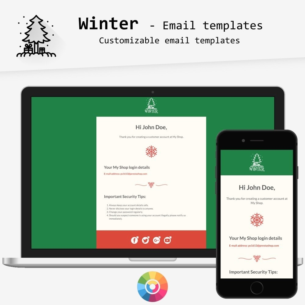email - PrestaShop email templates - Winter - Email templates - 1