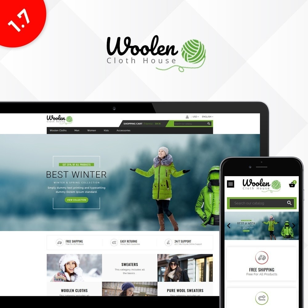 theme - Fashion & Shoes - Woolen Cloth Store - 1