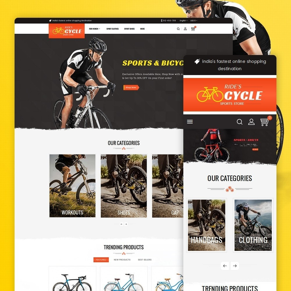 theme - Desporto, Actividades & Viagens - Sports Bicycle - 1