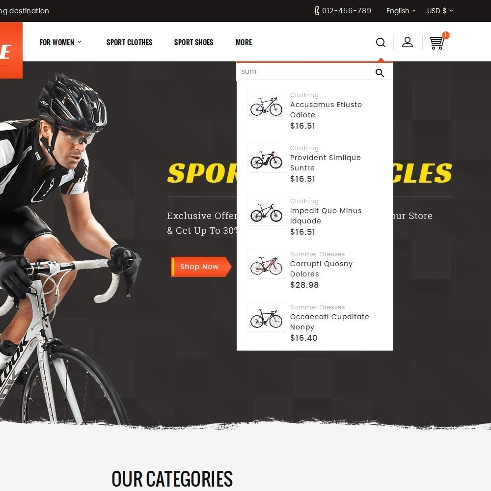 theme - Desporto, Actividades & Viagens - Sports Bicycle - 10