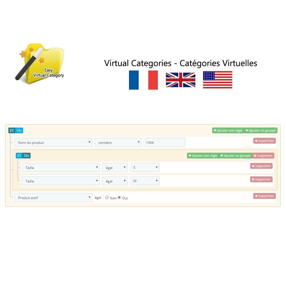 module - Edition rapide & Edition de masse - Catégories virtuelles - 2