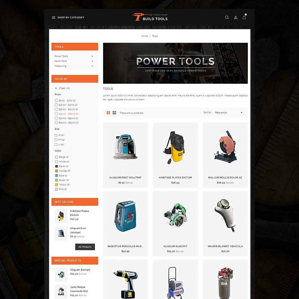 theme - Coches y Motos - Build Tools - Online Store - 3