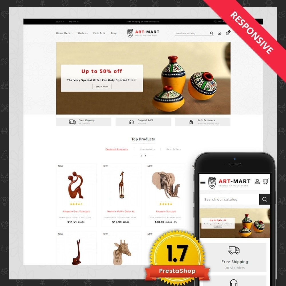 theme - Arte y Cultura - Art Mart - Online Store - 1