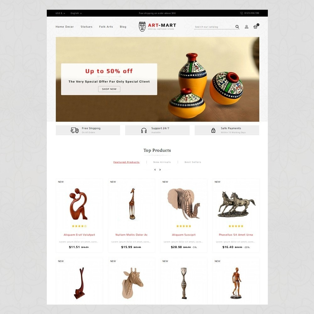 theme - Arte y Cultura - Art Mart - Online Store - 2