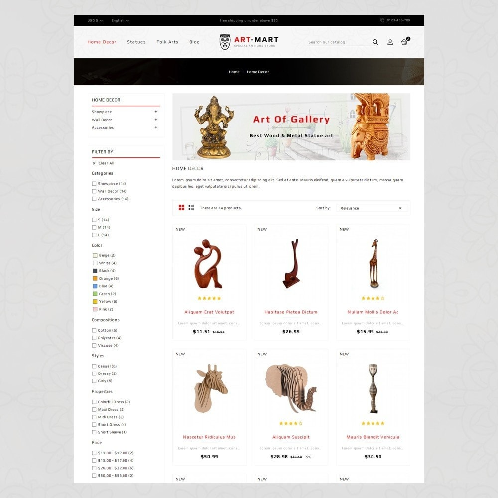 theme - Art & Culture - Art Mart - Online Store - 3