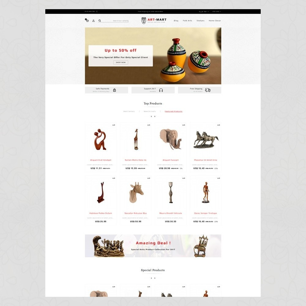 theme - Arte y Cultura - Art Mart - Online Store - 6