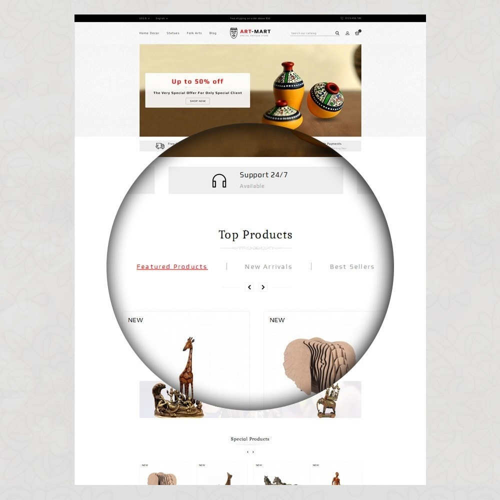 theme - Arte y Cultura - Art Mart - Online Store - 8