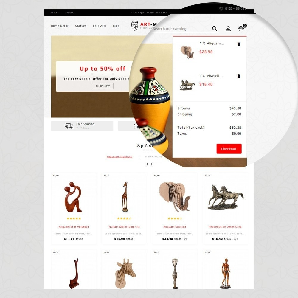 theme - Arte y Cultura - Art Mart - Online Store - 9