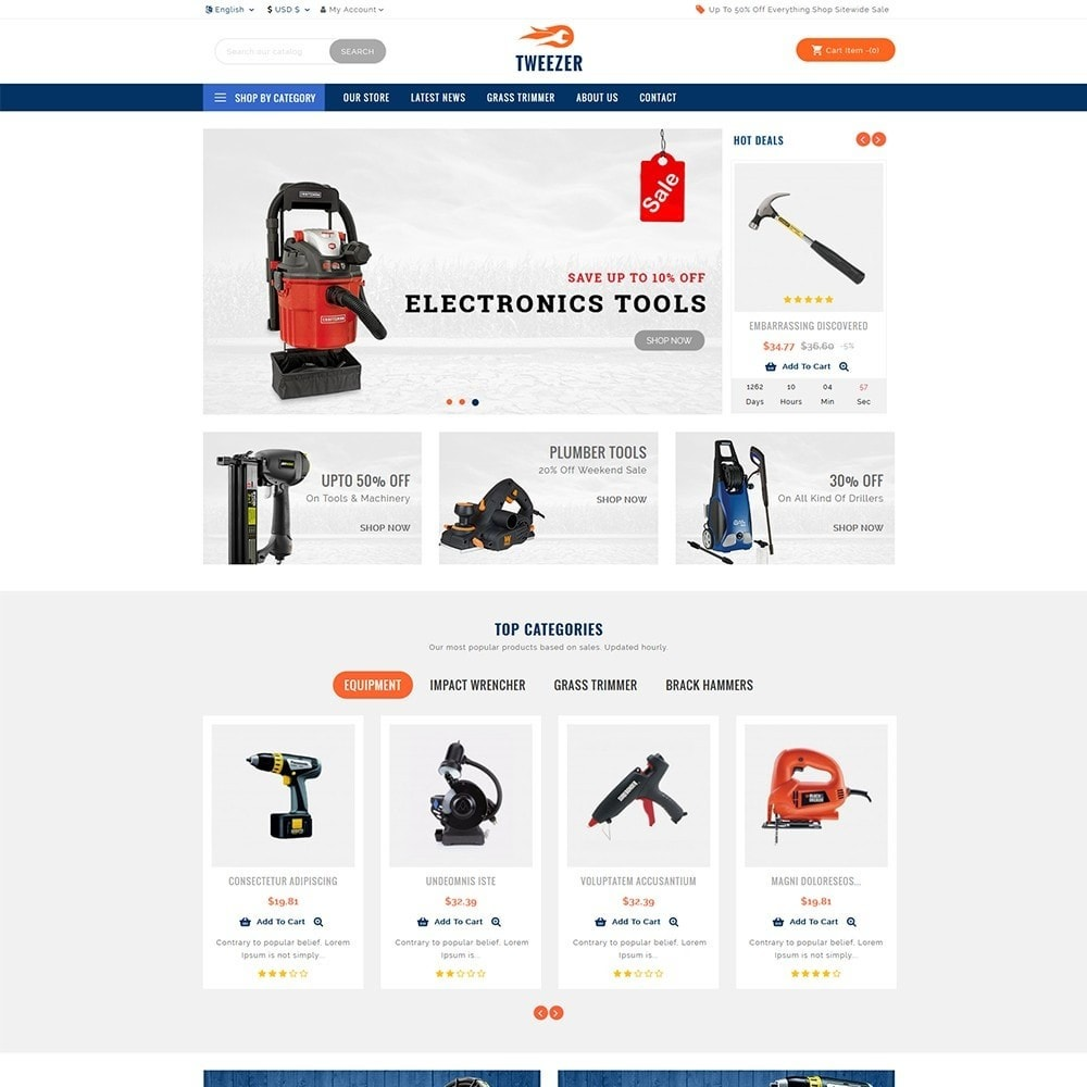 theme - Automotive & Cars - Tweezer Tool Store - 2