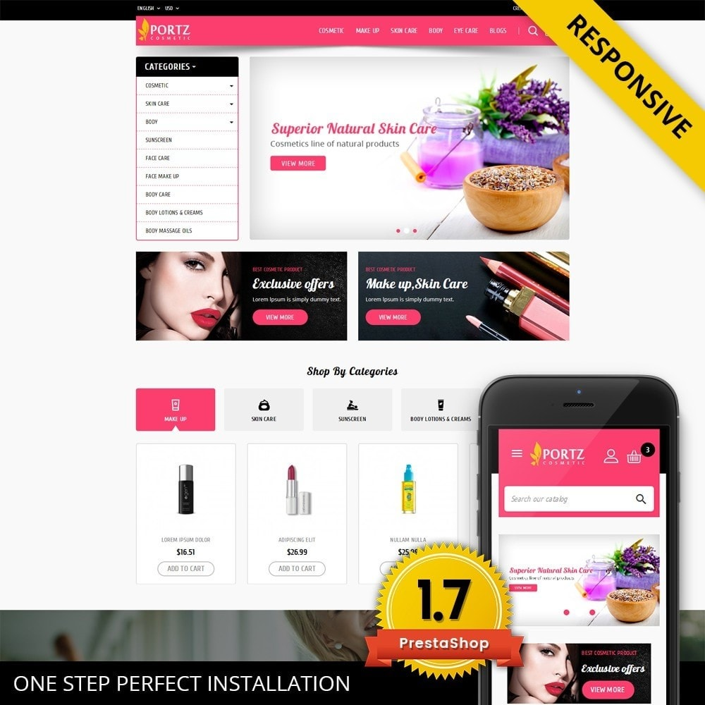 theme - Health & Beauty - Portz - Cosmetic Store - 1