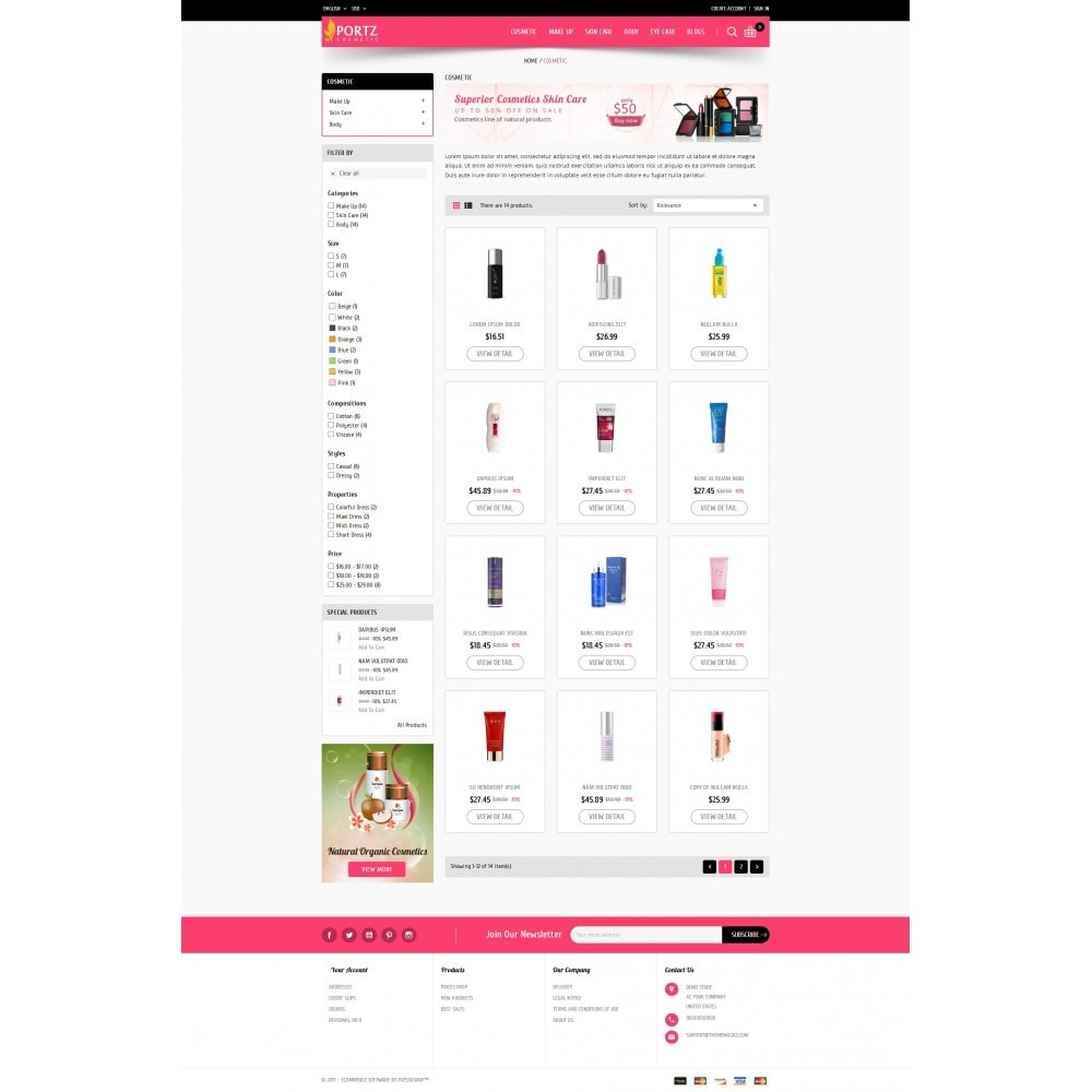 theme - Health & Beauty - Portz - Cosmetic Store - 3