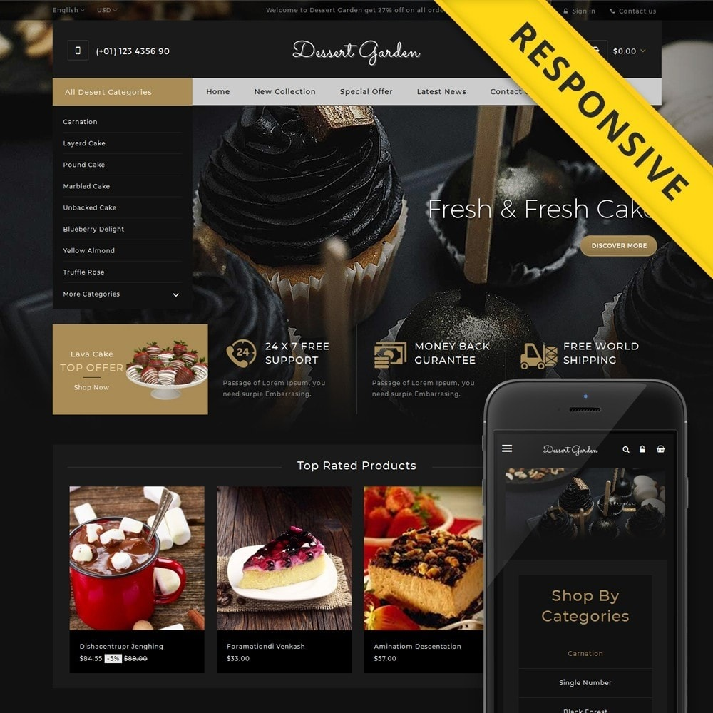 theme - Продовольствие и рестораны - Dessert Garden - Bakery Store - 1