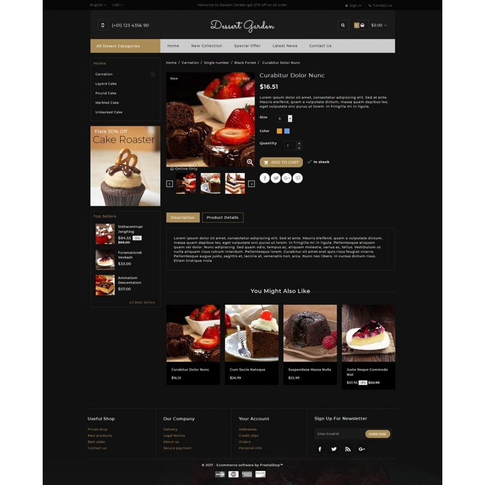 theme - Żywność & Restauracje - Dessert Garden - Bakery Store - 5