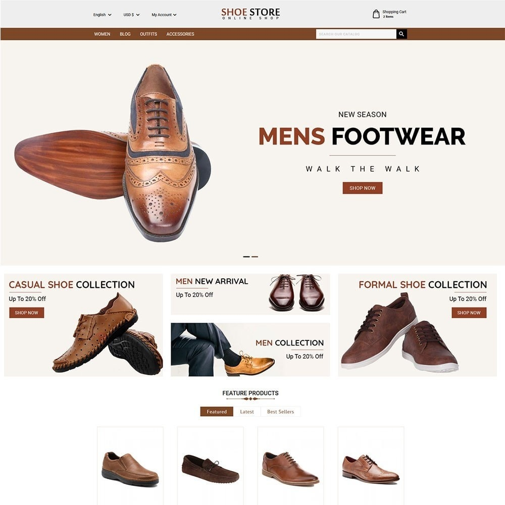 theme - Mode & Chaussures - Shoe Store - 2