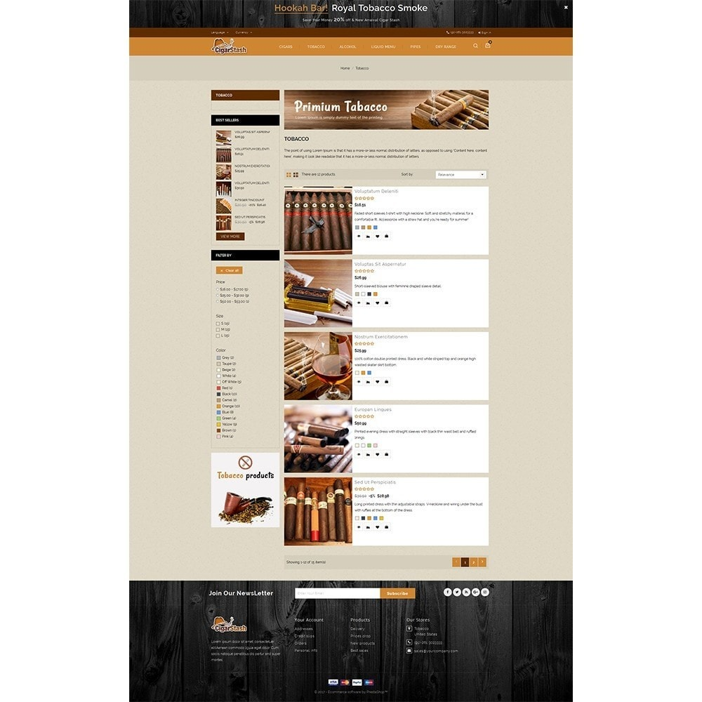 theme - Bebidas & Tabaco - CigarStash Store - 4