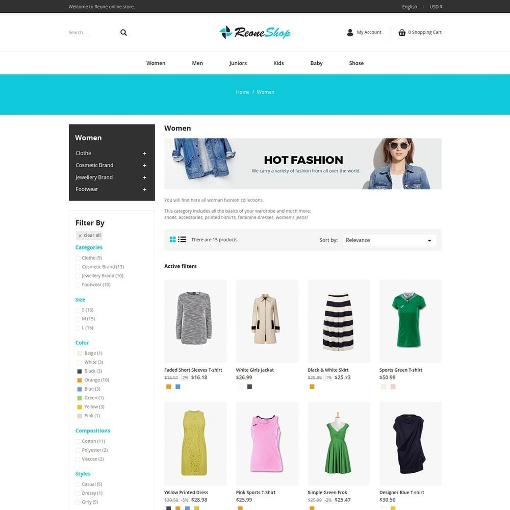 theme - Mode & Chaussures - Reone Fashion Shop - 3