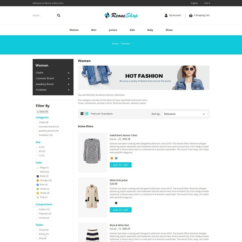 theme - Moda & Obuwie - Reone Fashion Shop - 4