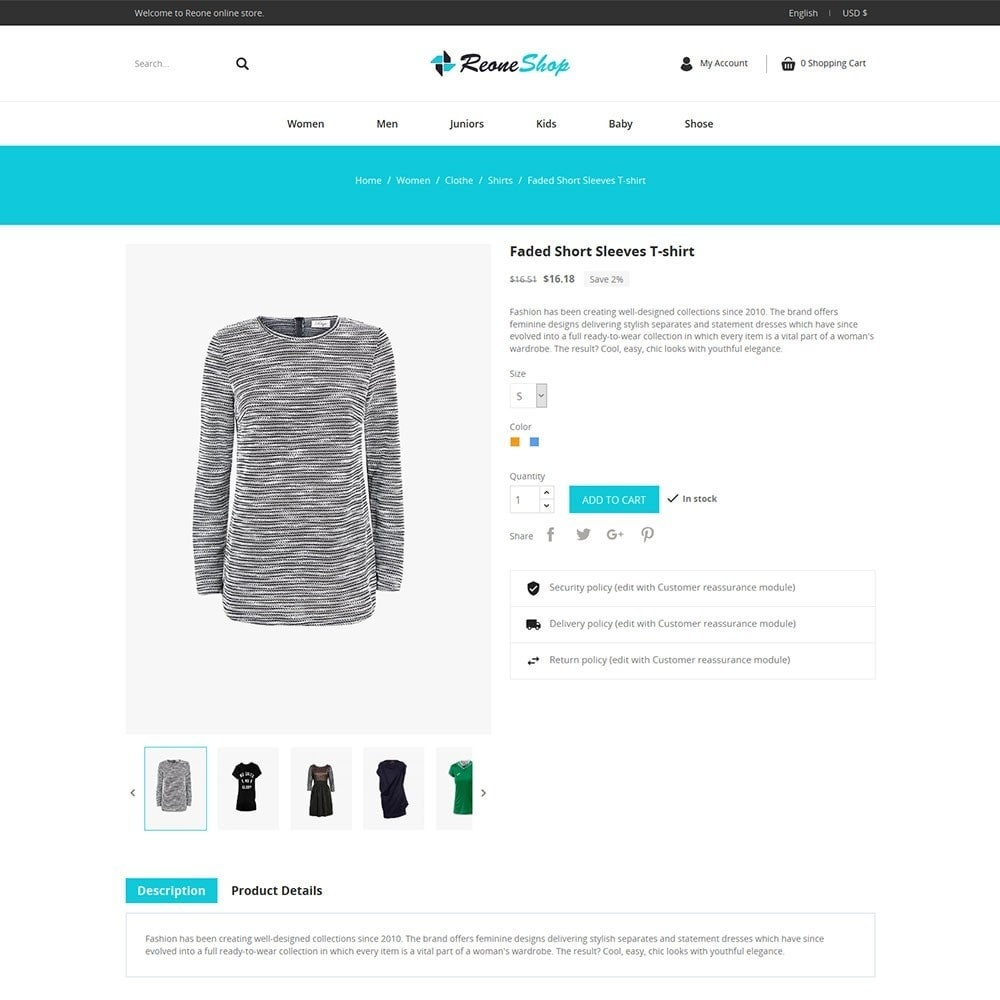 theme - Mode & Chaussures - Reone Fashion Shop - 5