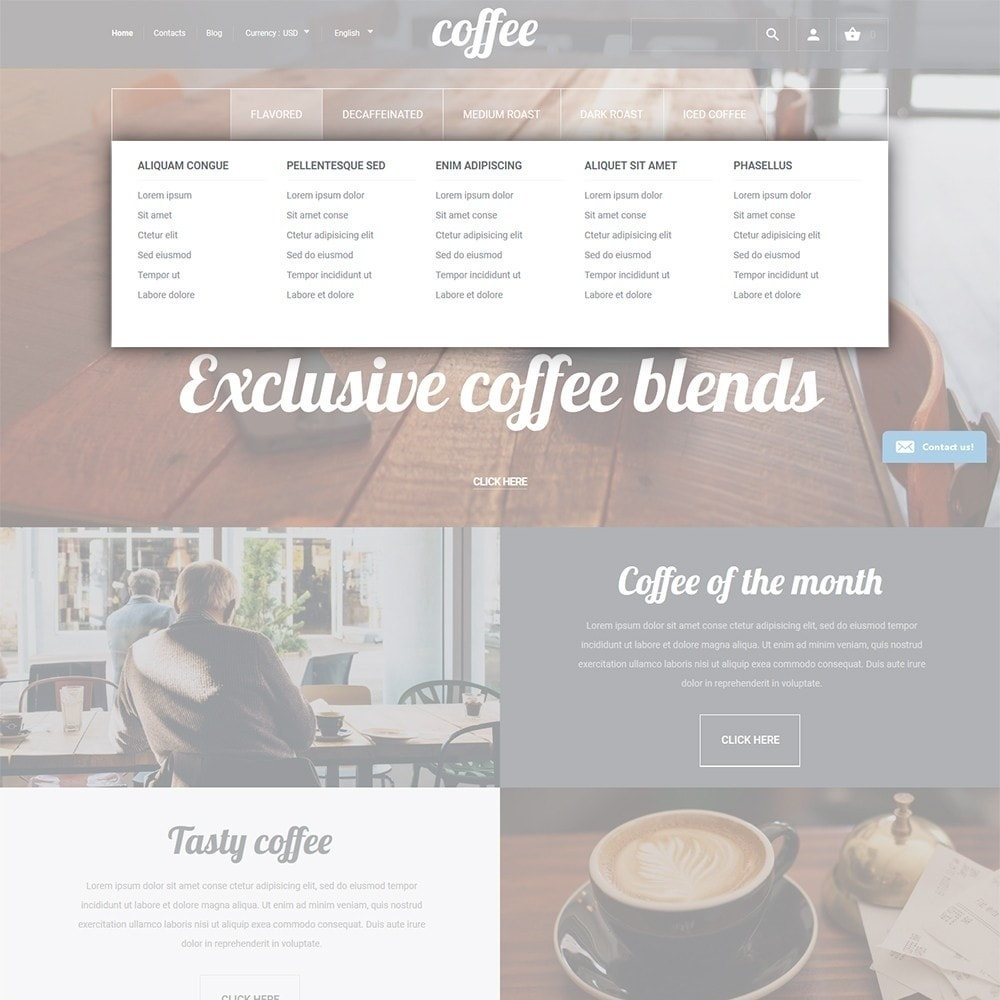 theme - Food & Restaurant - Coffee - Coffee Shop Template - 4