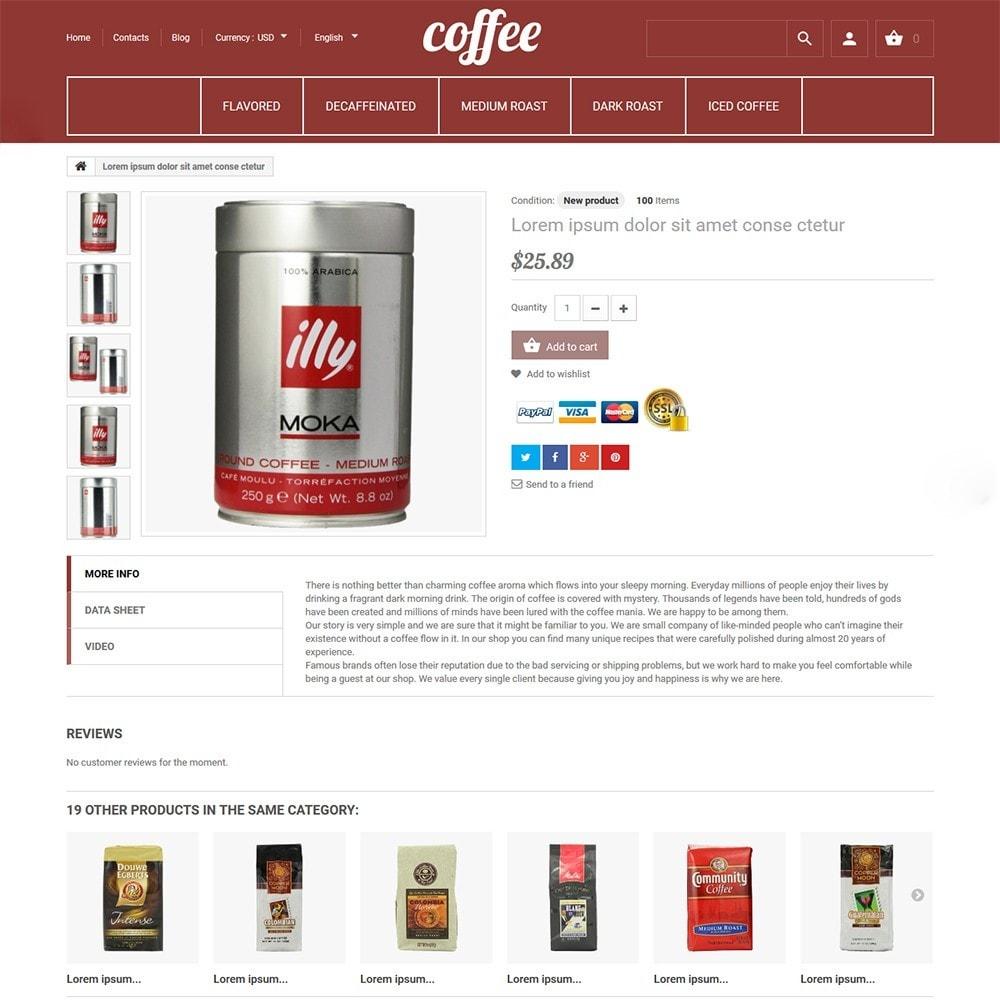 theme - Gastronomía y Restauración - Coffee - para Sitio de Tienda de Café - 3
