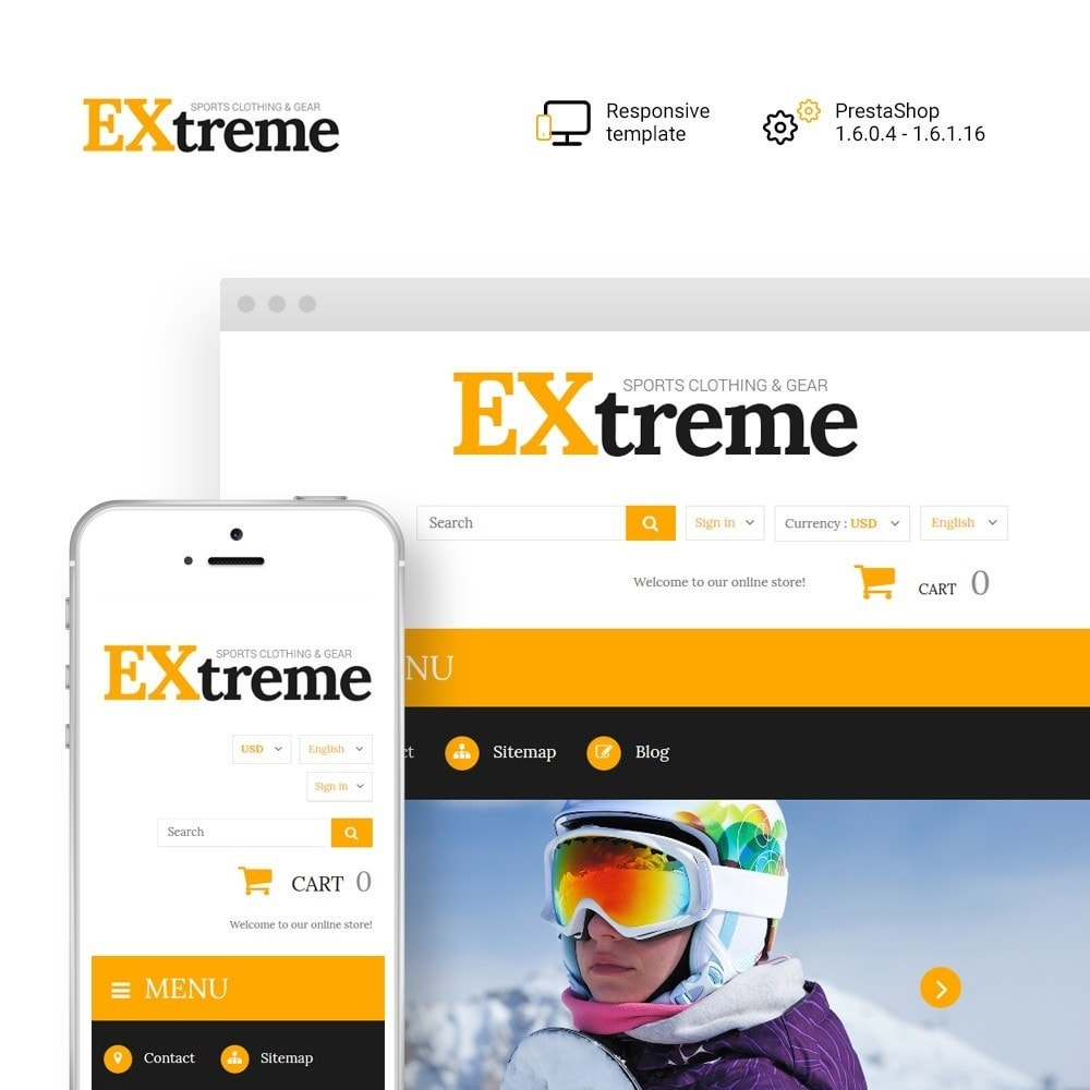 theme - Desporto, Actividades & Viagens - Extreme Sports Clothing - 1