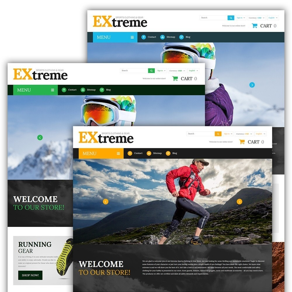 theme - Desporto, Actividades & Viagens - Extreme Sports Clothing - 2