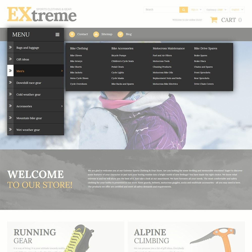 theme - Desporto, Actividades & Viagens - Extreme Sports Clothing - 4