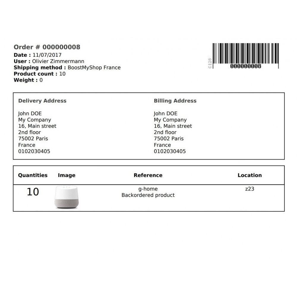 module - Order Management - Boostmyshop ERP - Order Preparation - 2