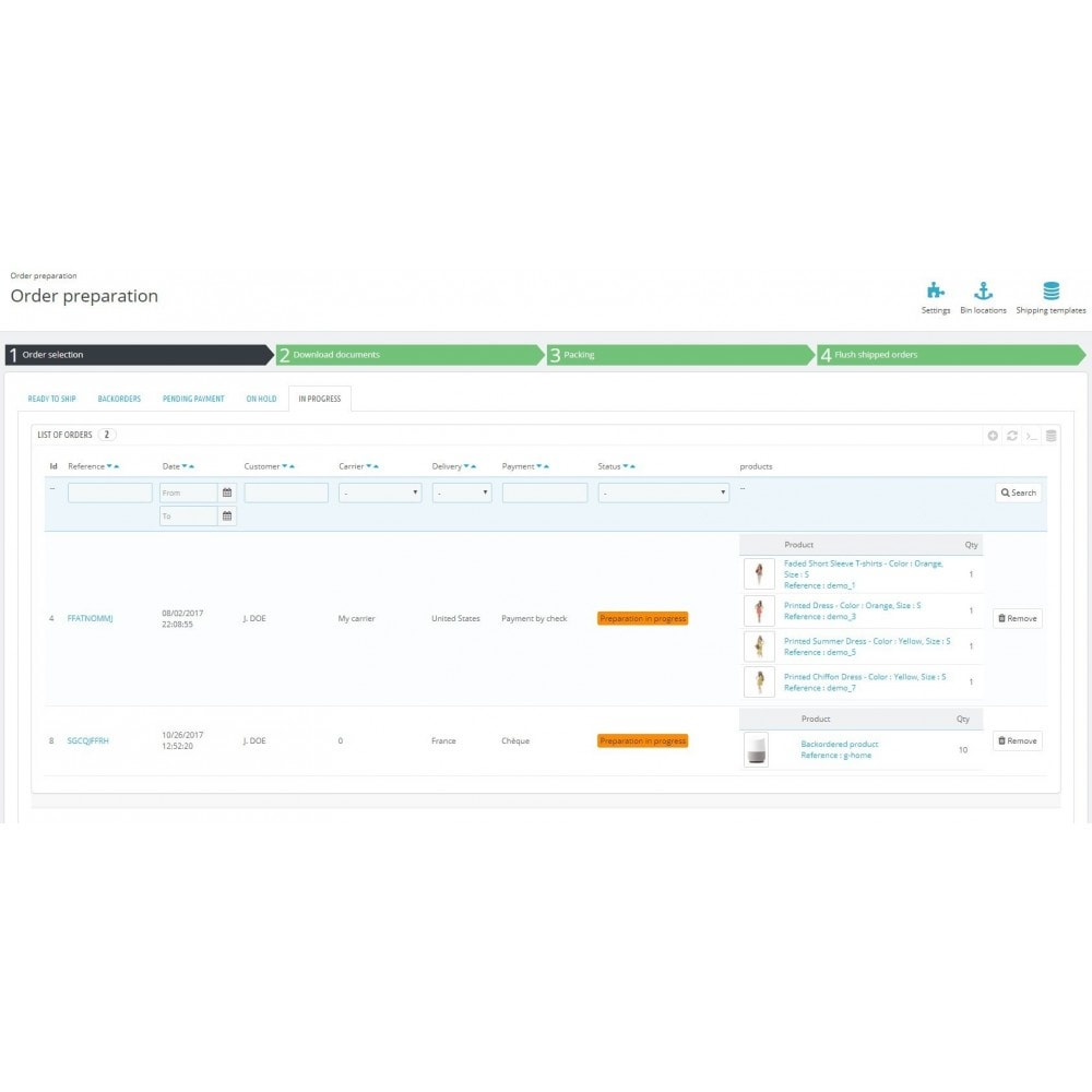 module - Order Management - Boostmyshop ERP - Order Preparation - 4