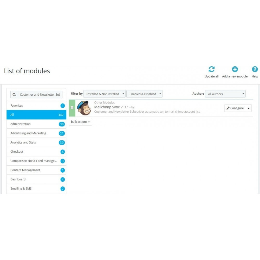 module - Newsletter & SMS - Mailchimp Sync Ultimate - 2