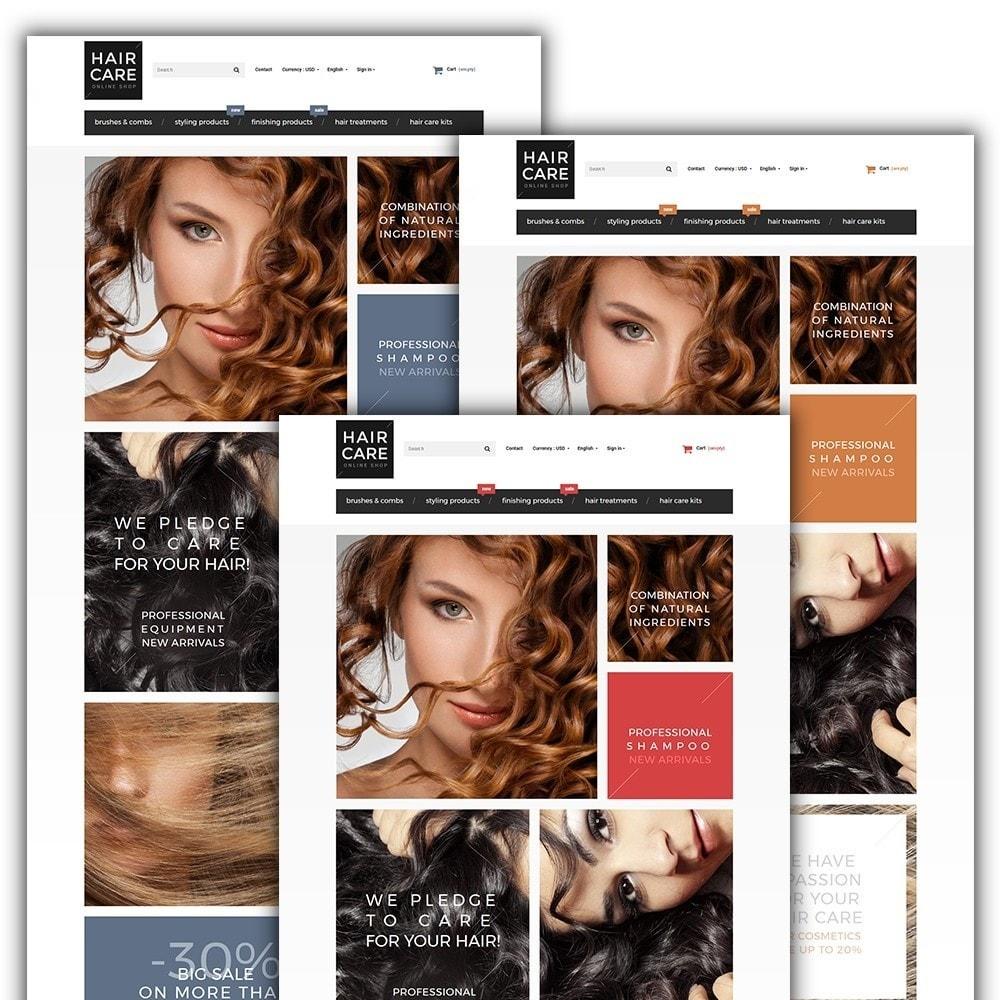 theme - Здоровье и красота - Hair Care - шаблон на тему парикмахерская - 2