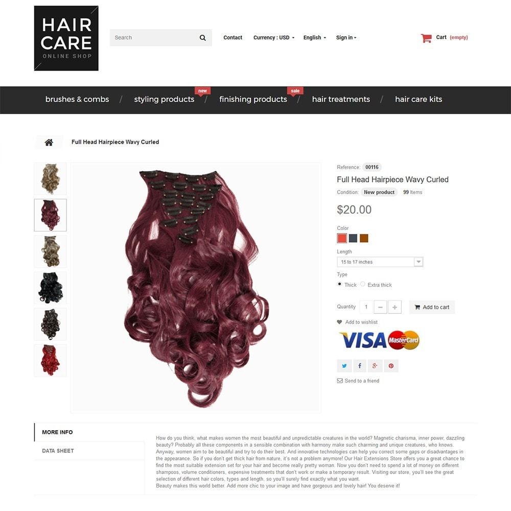 theme - Здоровье и красота - Hair Care - шаблон на тему парикмахерская - 3