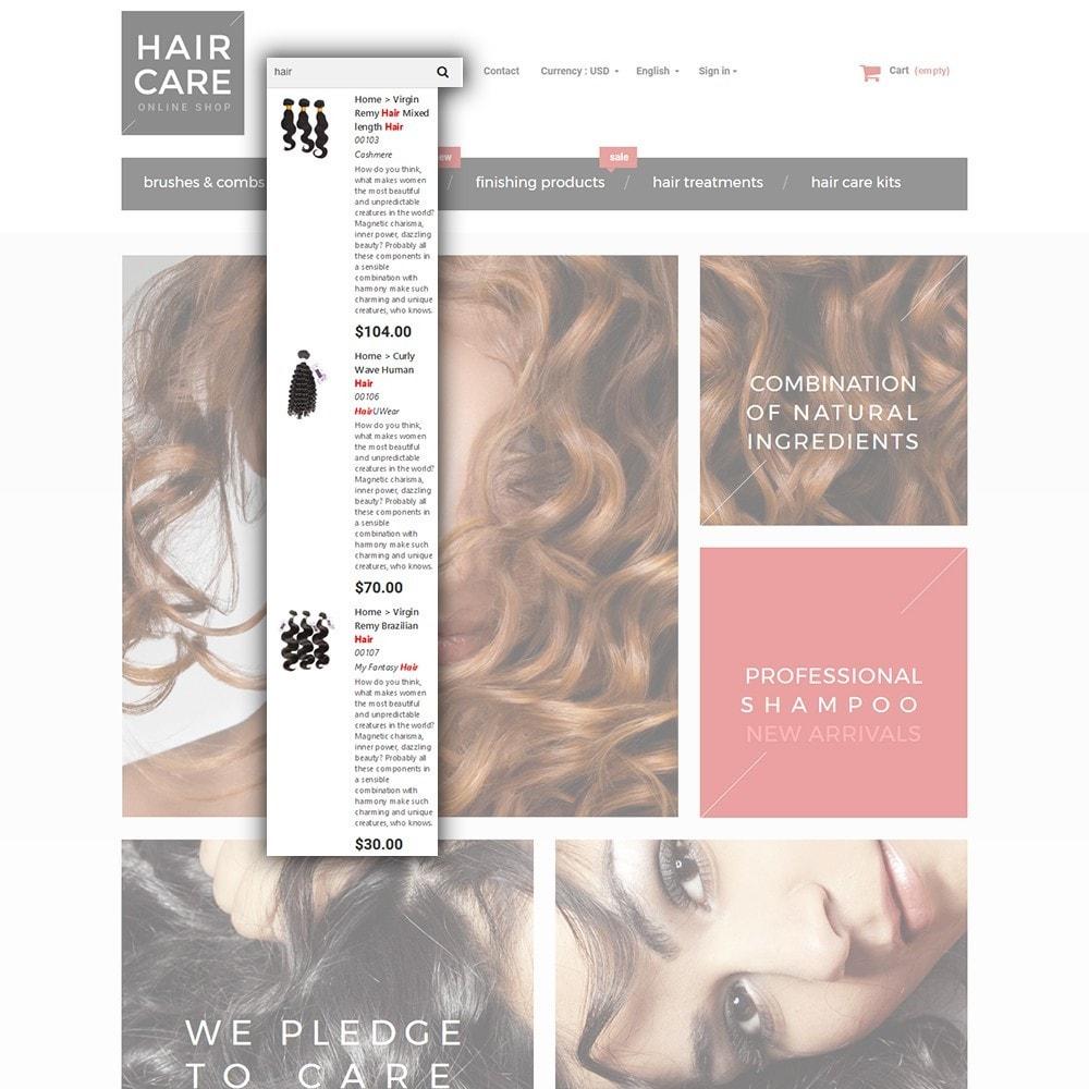 theme - Здоровье и красота - Hair Care - шаблон на тему парикмахерская - 6