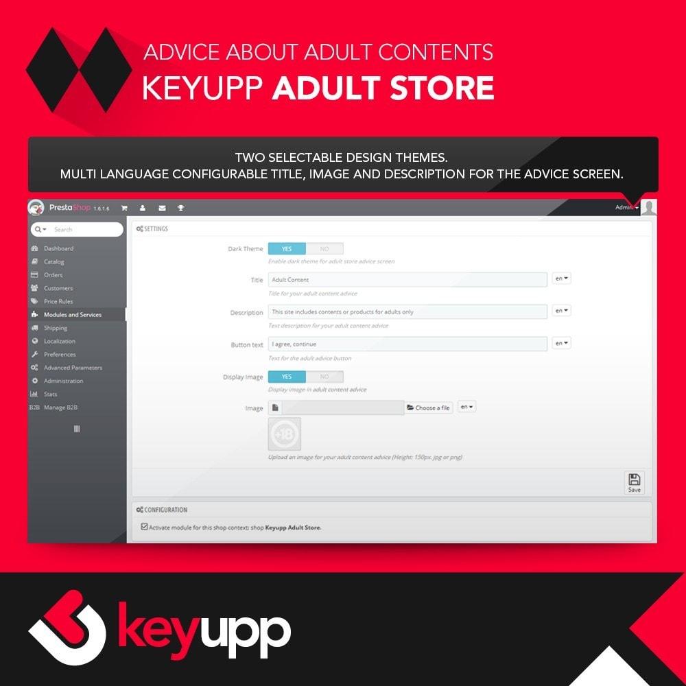 module - Bezpieczeństwa & Dostępu - Adult content advice - 2