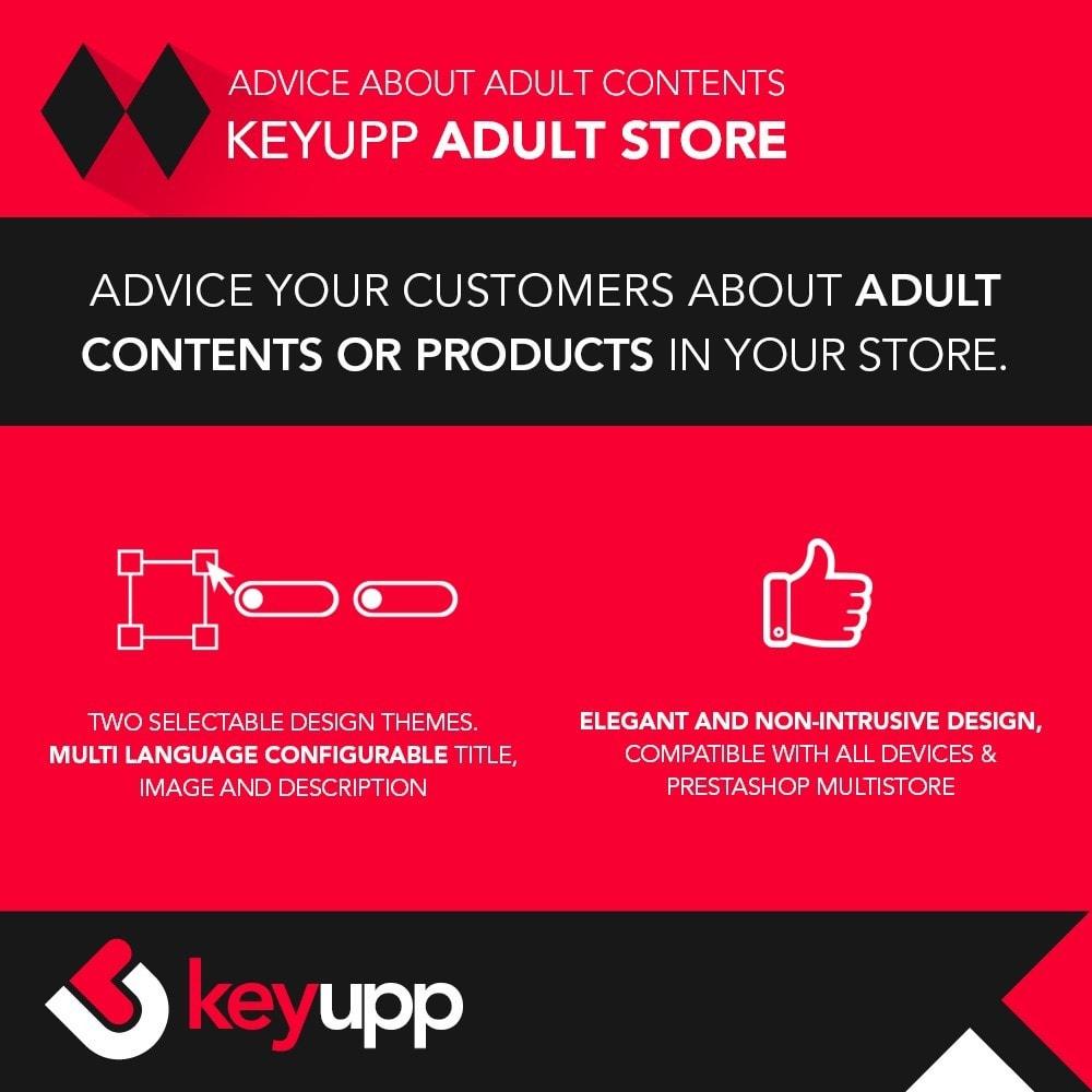 module - Segurança & Acesso - Adult content advice - 1