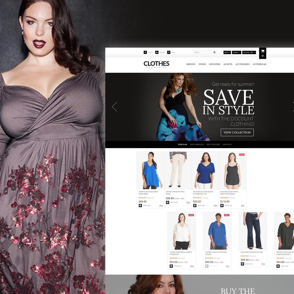 theme - Moda & Obuwie - Clothes Plus Size - Apparel Template - 1